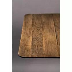 table carree industriel bistro braza 75 cm dutchbone