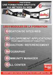6 modules de formation BOITE2.com