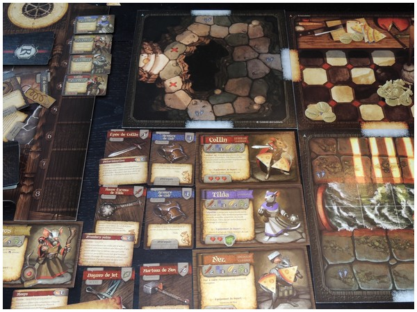 Une partie de Mice and Mystics