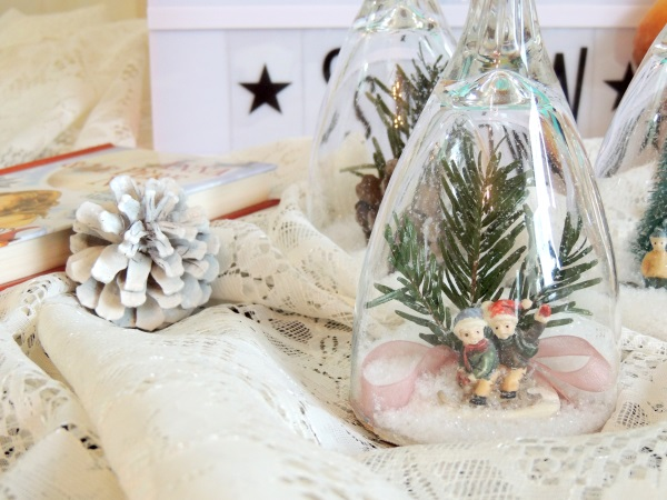 Bougeoirs verres à neige - DIY