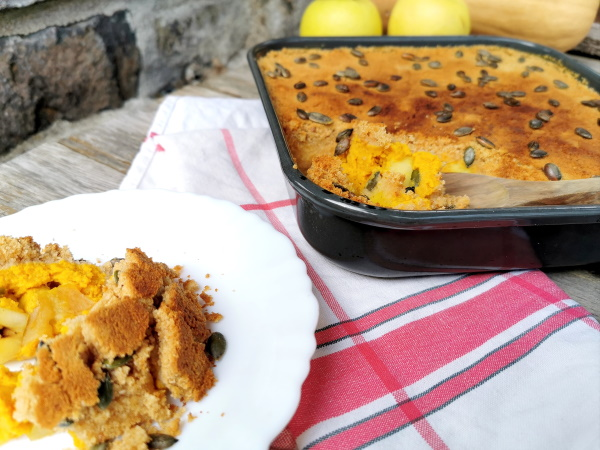 Crumble butternut pomme curry