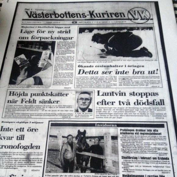 Min sambo gav mig bland annat en kopia av VK från min födelsedag. En händelserik dag, såklart.