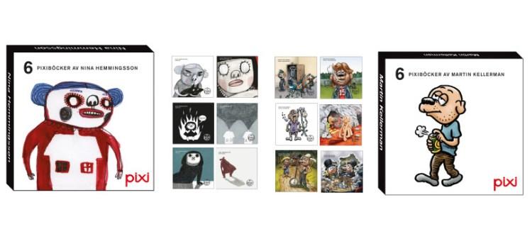 Pixiböcker för vuxna av Martin Kellerman och Nina Hemmingsson