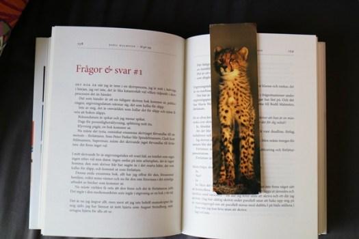 Bokmärke med gepard