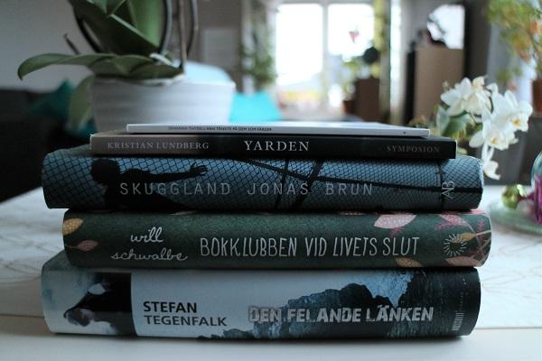 Han tänkte på dem som färger, Yarden, Boklubben vid livets slut, Skuggland, Den felande länken