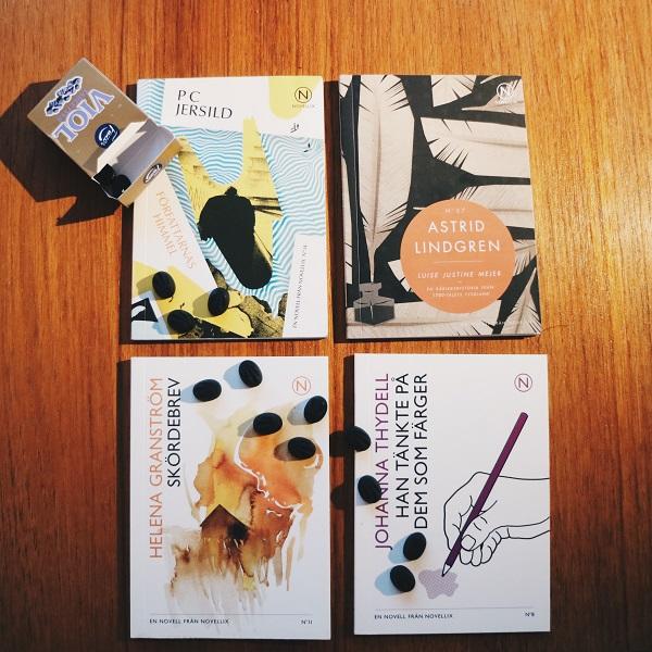 Han tänkte på dem som färger av Johanna Thydell, Skördebrev av Helena Granström, Författarnas himmel av P C Jersild, Luise Justine Mejer av Astrid Lindgren