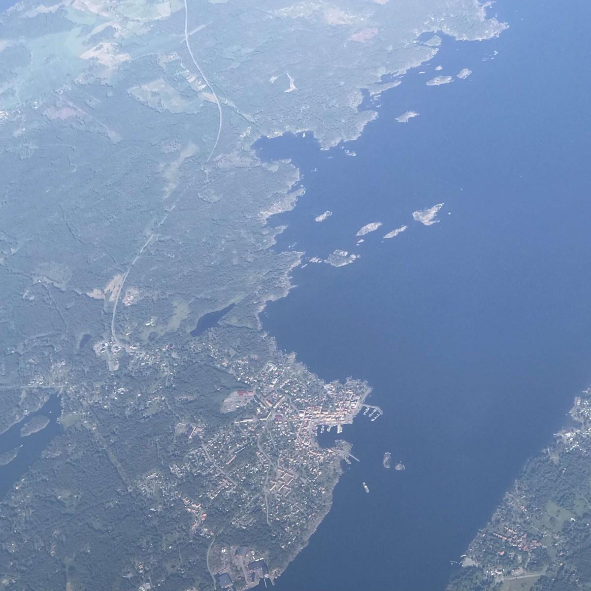 Flygbild över Öregrund