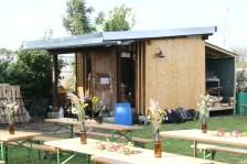 Die Gartenhütte des Gemeinschaftsgartens, eine großzügige Spende von Ass.Prof. Dipl.-Ing. Dr.nat.techn. Sabine Plenk