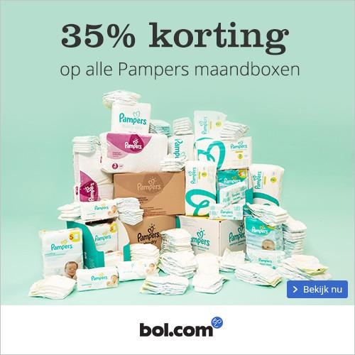 Pampers 35% maandbox