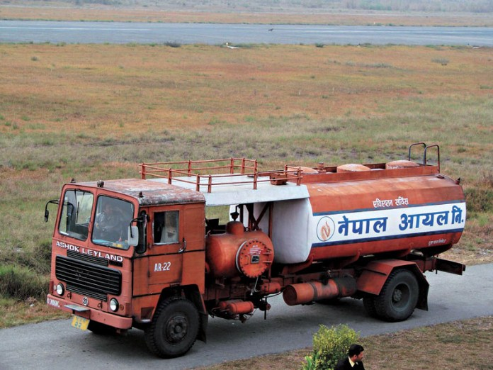 Nepal Oil Corporation tanker fuel supply
