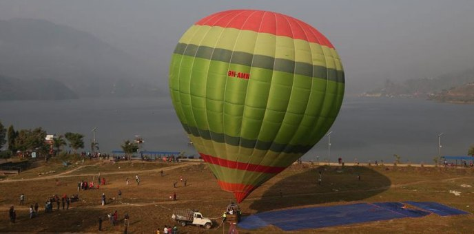 Air Balloon Flight Tourism Pokhara Nepal