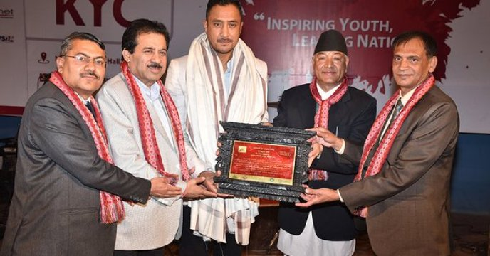 Paras Khadka Named Nepal's 'Youth Icon for 2019'