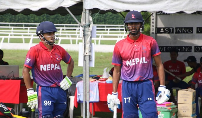 Nepal batting ICC U19 Cricket World Cup Qualifier Asia 2019