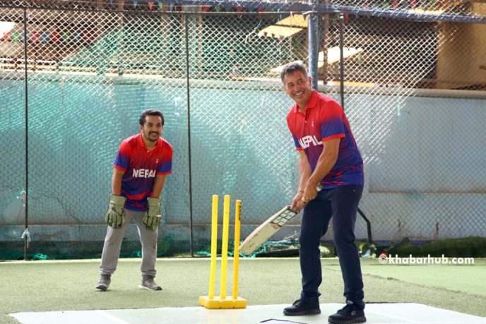 Randy Berry Plays Cricket With Nepal Cricket Team