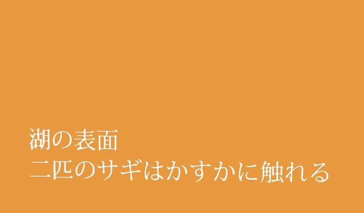 Haïku en japonais #125 : Surface du lac