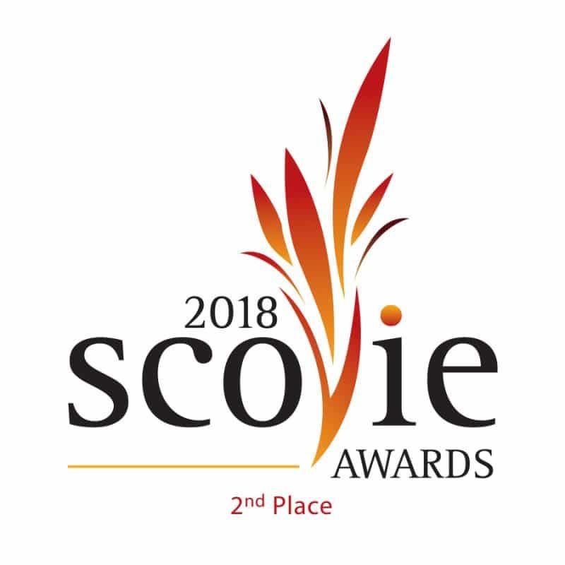 2018 Scovie Awards 2nd place logo
