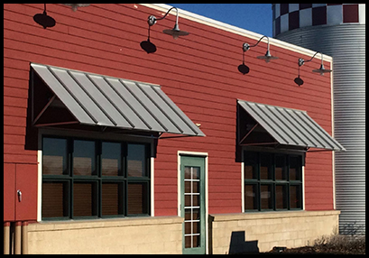 metal awning commercial use