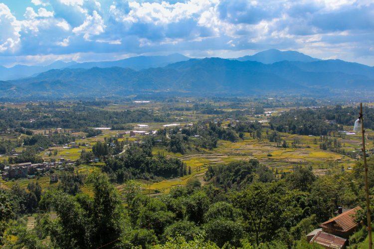 Kathmandu Valley vedere dintr-un sat