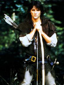 Michael Praed is Robin of Loxley, the first oif the two Robins from the Robin of Sherwood TV series