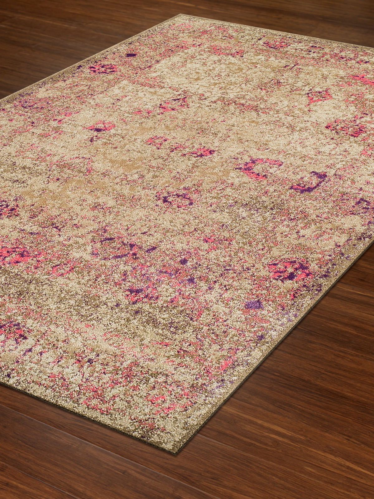 Dalyn Antiquity Aq1 Ivory And Pink Area Rug Free Shipping