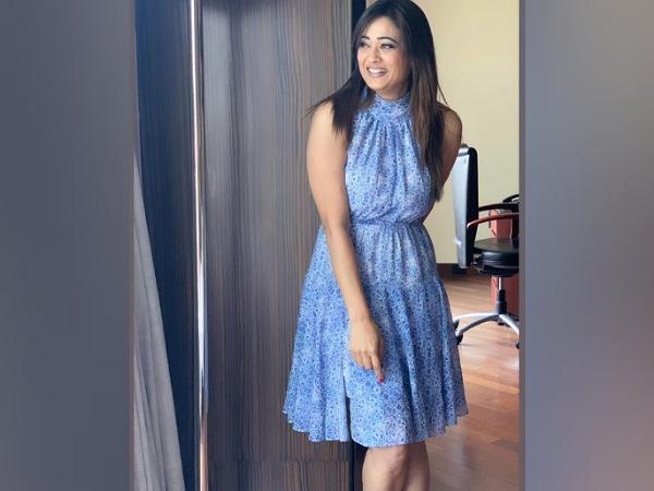 Shweta Tiwari In A Blue Printed Dress