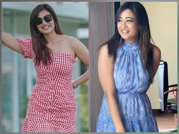 Shweta Tiwari In Blue And Red Dresses