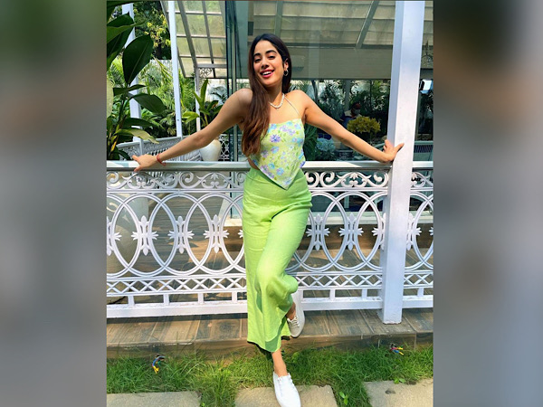 Janhvi Kapoor In Lime Green Separates