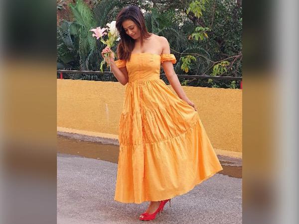 Shweta Tiwari In A Yellow Dress
