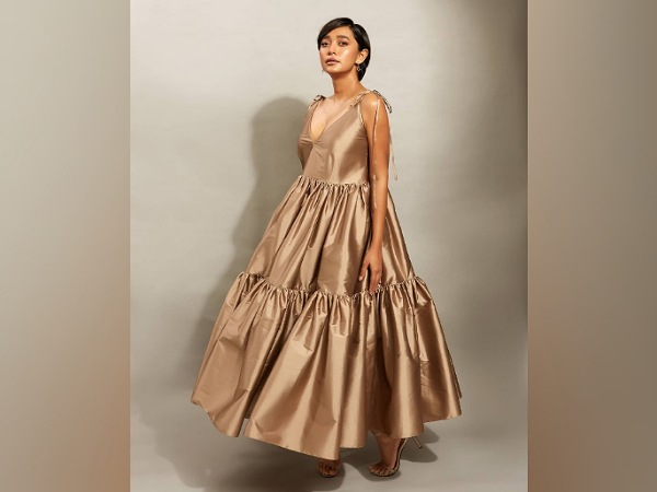 Sayani Gupta In A Golden-Brown Dress