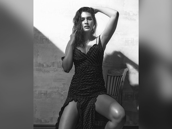 Kriti Sanon In A Black Dotted Dress