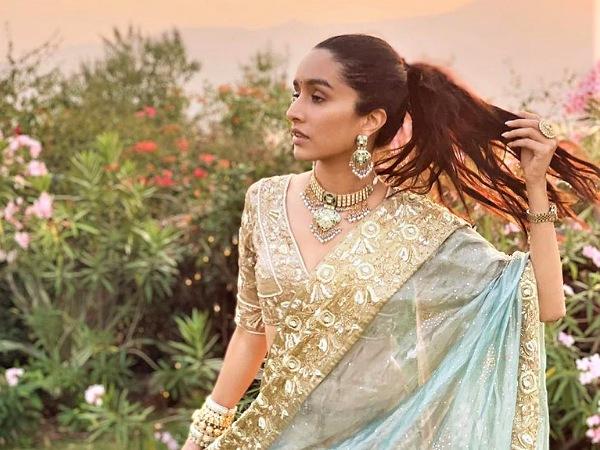 Shraddha Kapoor In A Golden Lehenga