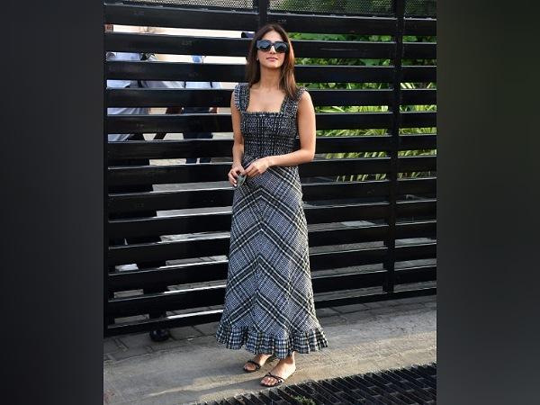 Vaani Kapoor In A Checked Midi Dress