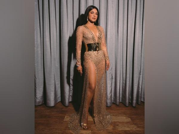 Priyanka Chopra's Nude Dress At BMA 2021