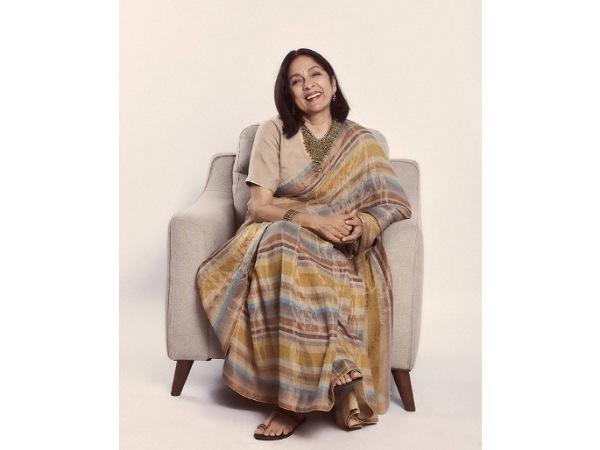 Sardar Ka Grandson Actress Neena Gupta Gives A Major Saree Goal With Her Gorgeous Tissue Saree