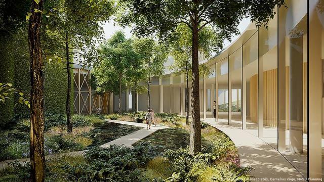 वास्तुकला एचसी एंडरसन हाउस में प्रकृति के साथ विलीन हो जाती है