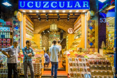 Food tour in the spice bazaar of Istanbul Turkey