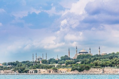 A view of Istanbul's Historical Peninsula from ferry