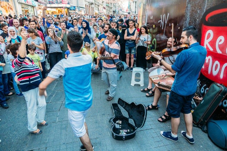 Dancing on Istiklal street