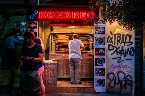 Food vendor on Istiklal street