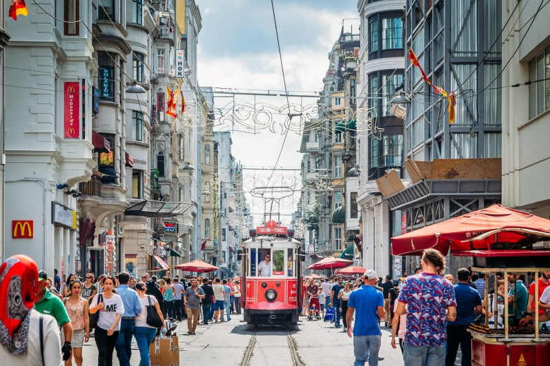 The hustle and Bustle of Istiklal street in Beyoğlu
