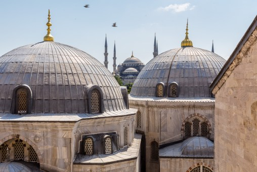 View of Blue Mosque (Sultan Ahmet Camisi) from Hagia Sophia