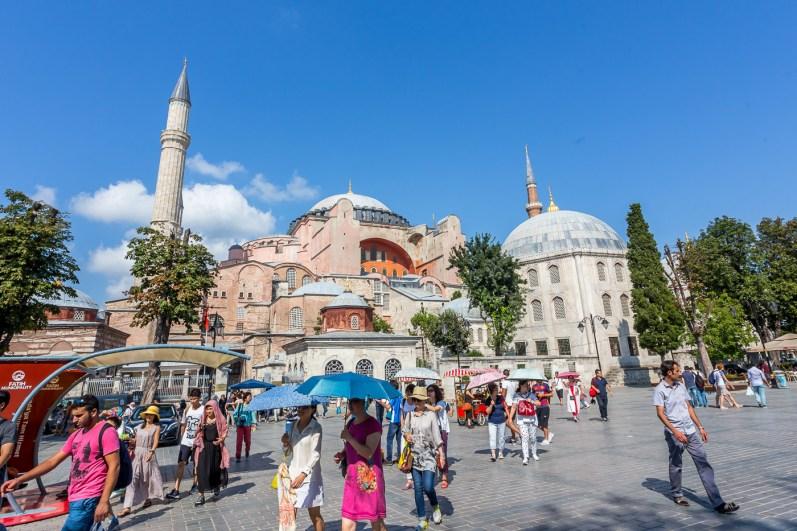 Bustling Hagia Sophia