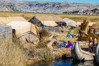 Uros Floating Reed Islands, Lake Titicaca Peru