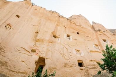 Pigeon houses in the Zelve Open Air Museum in Cappadocia