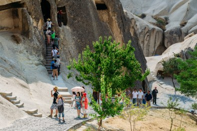 Crowds at Goreme Open Air Museum