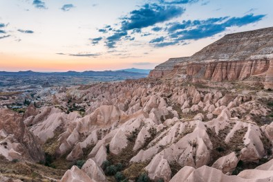 Red Valley Cappadocia at sunset