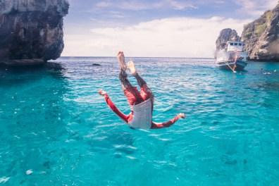 Playing at Koh Haa - Koh Lanta Diving