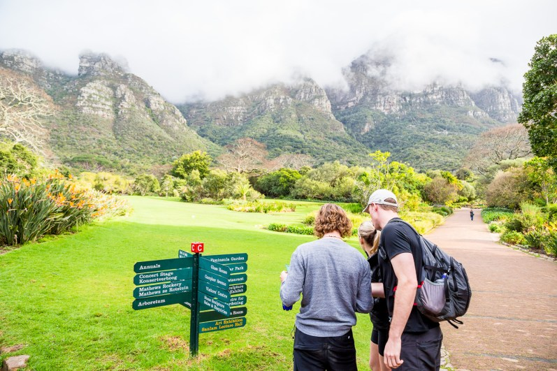 Navigating our way to Smuts Track and Skeleton Gorge Trail from Kirstenbosch Gardens