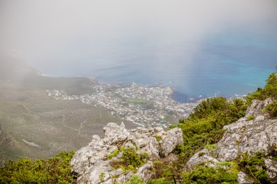 From the cable car station before descending Table Mountain