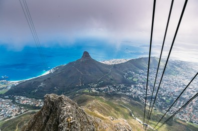 Gorgeous Lions Head from the Cable Car going down Table Mountain